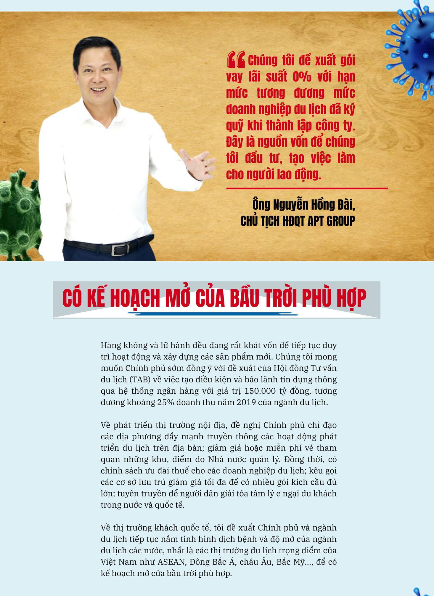 Ông Nguyễn Hồng Đài - HĐQT APT Group đề xuất phương án Chính phủ hỗ trợ doanh nghiệp sau dịch Covid 19