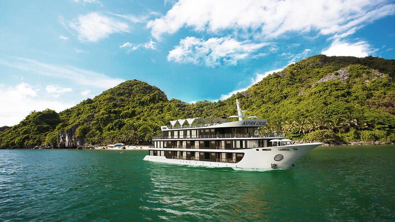 Tour 2N1Đ Du thuyền 5 sao Aspira mới nhất tại Vịnh Lan Hạ